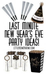 Last Minute New Year's Eve Party Ideas! | littleredwindow.com