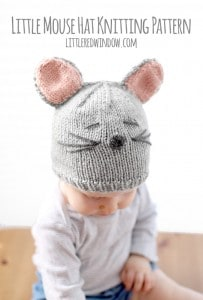 Little Mouse Hat Knitting Pattern for babies! | littleredwindow.com