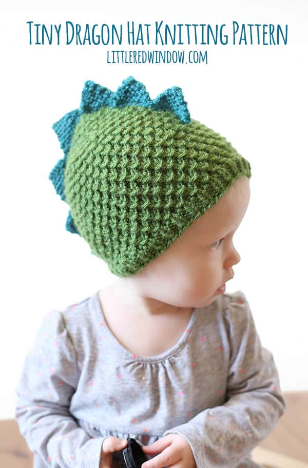 Knitting Pattern For Dragon Hat : Tiny Dragon Hat Knitting Pattern - Little Red Window
