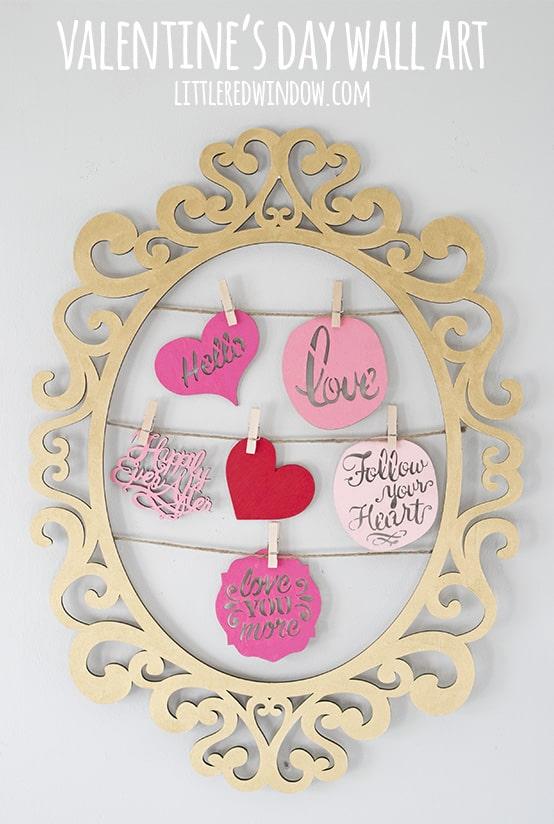 Cute DIY Valentine's Day Wall Art! | littleredwindow.com