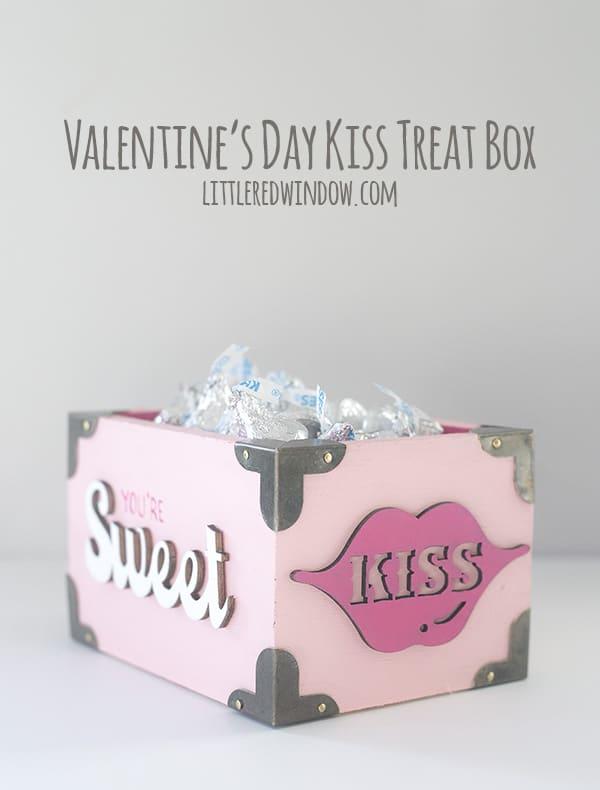 Cute Valentine's Day Kiss Treat Box! | littleredwindow.com