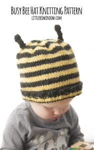 Busy Bee Hat Knitting Pattern for Kids and Babies! | littleredwindow.com