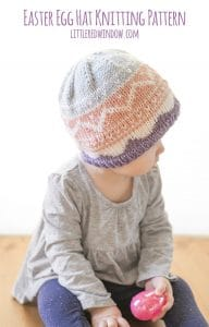 Cute little fair isle Easter Egg hat knitting pattern for babies and toddlers! | littleredwindow.com