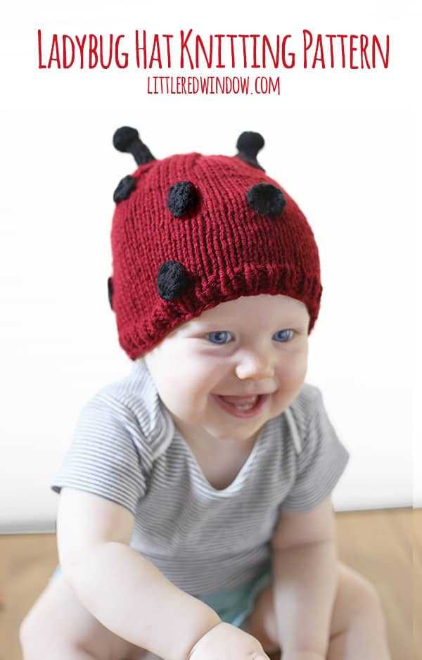 Little Ladybug Hat Knitting Pattern - Little Red Window