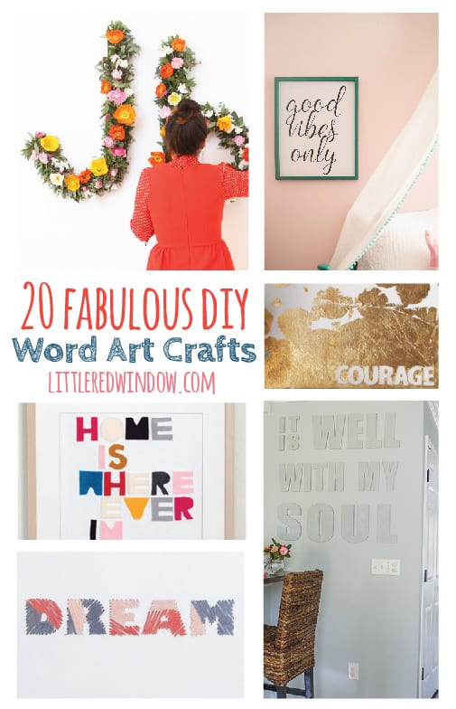 20 Fabulous DIY Word Art and Typography Crafts!  | littleredwindow.com
