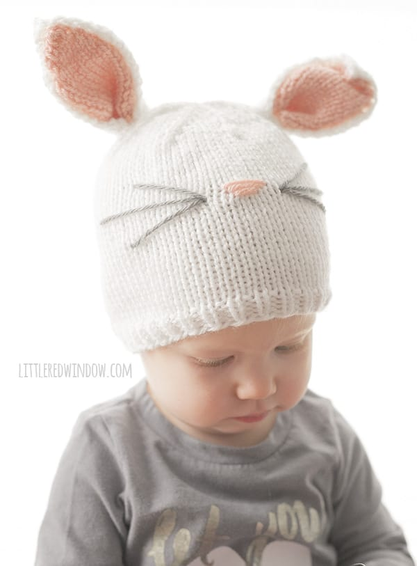 Baby Bunny Hat Knitting Pattern - Little Red Window