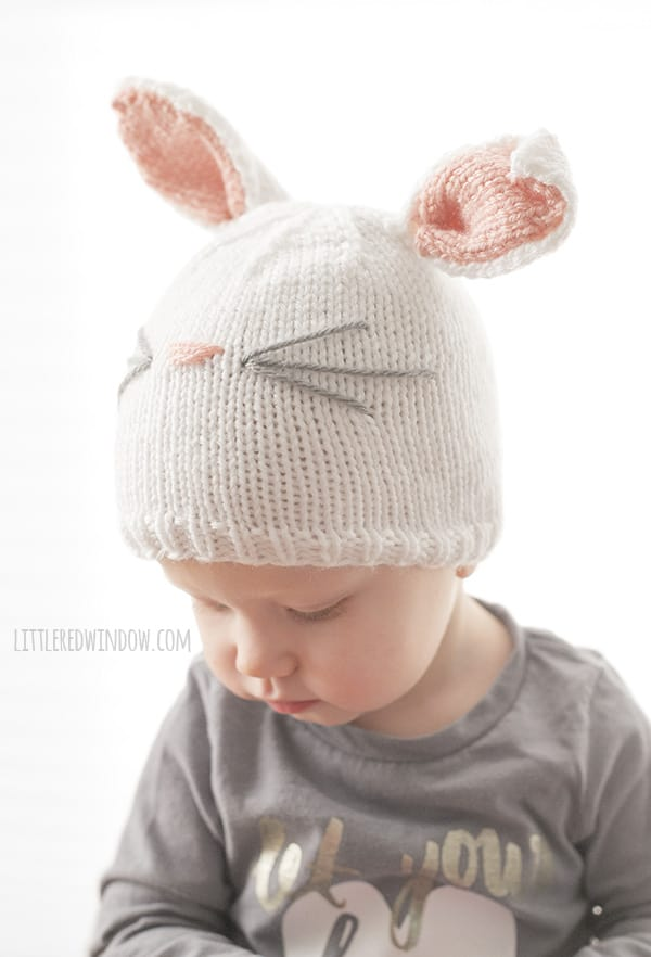 Baby Bunny Hat Knitting Pattern : Baby Bunny Hat Knitting Pattern - Little Red Window