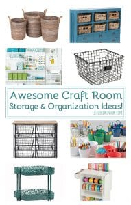 Get yourself organized with these awesome craft room storage ideas!