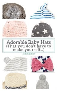 If you can't knit, crochet or sew, here are the CUTEST baby hat's that you don't have to make yourself!