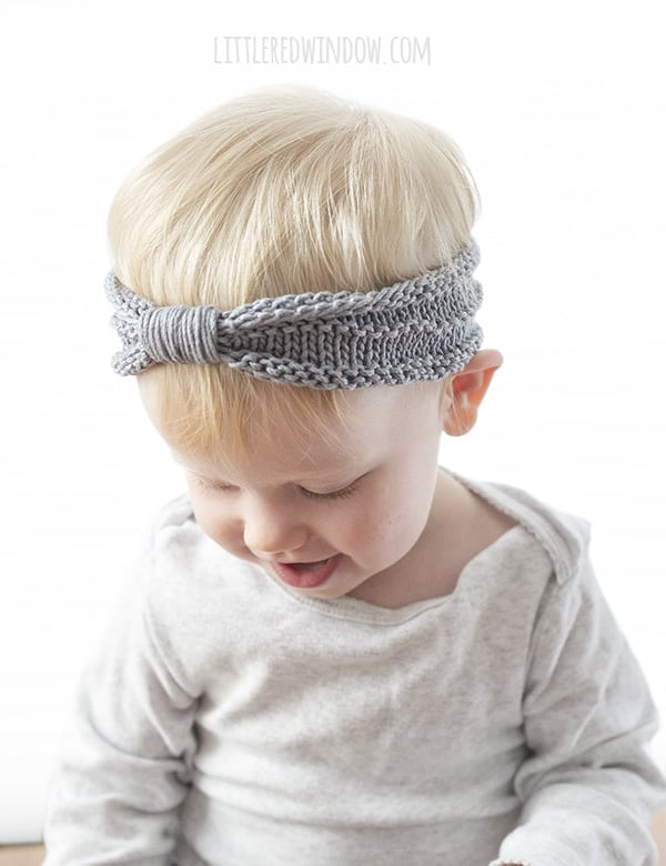 Sweet Baby Headband Knitting Pattern - Little Red Window