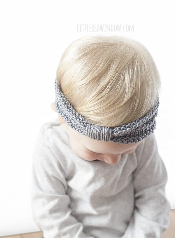 Knitted Baby Headband Pattern Easy : Sweet Baby Headband Knitting Pattern - Little Red Window