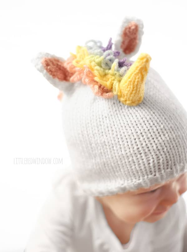 Knitting Patterns For Unicorns : Magical Unicorn Hat Knitting Pattern - Little Red Window