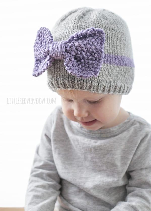 Big Bow Hat Knitting Pattern - Little Red Window