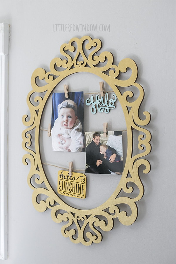 Here's a quick and easy way to update holiday frame wall art to use all year round!