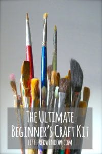 Find out what you NEED to have in your crafting arsenal if you're ready to start making with the ultimate beginner's craft kit! | littleredwindow.com