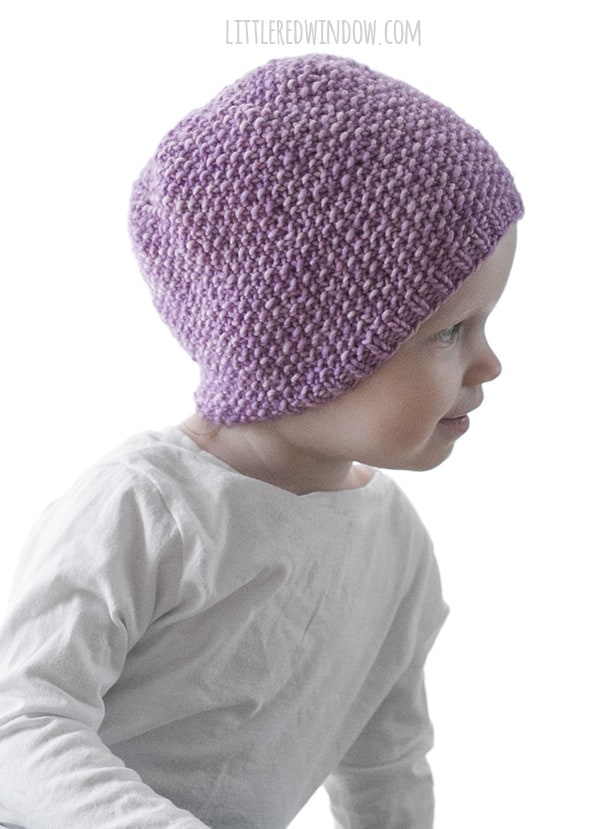 Basic Easy Baby Hat Knitting Pattern Little Red Window - oukas.info