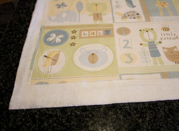 super easy baby shower quilt sandwich