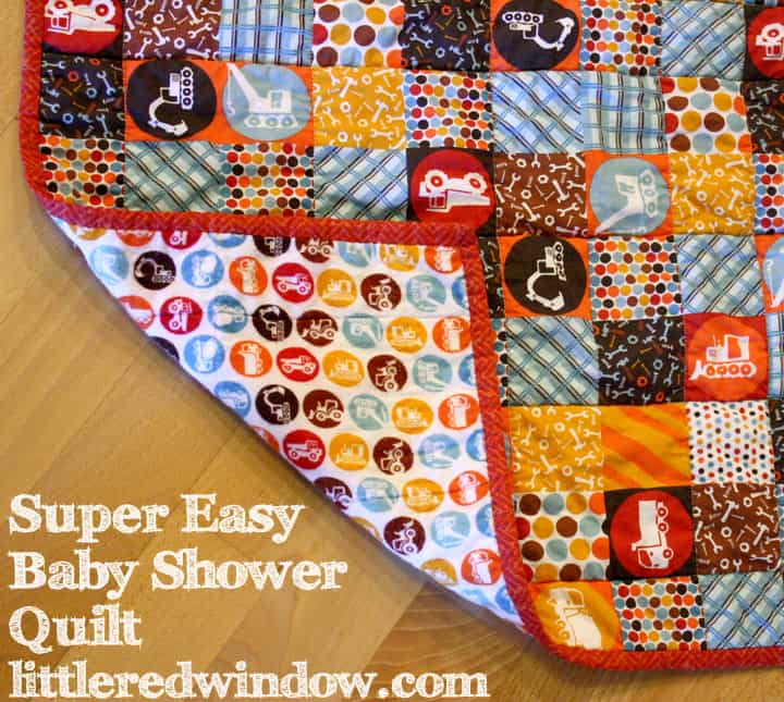 Super Easy Baby Shower Quilt Little Red Window