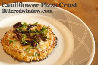 Cauliflower Pizza Crust at Little Red Window