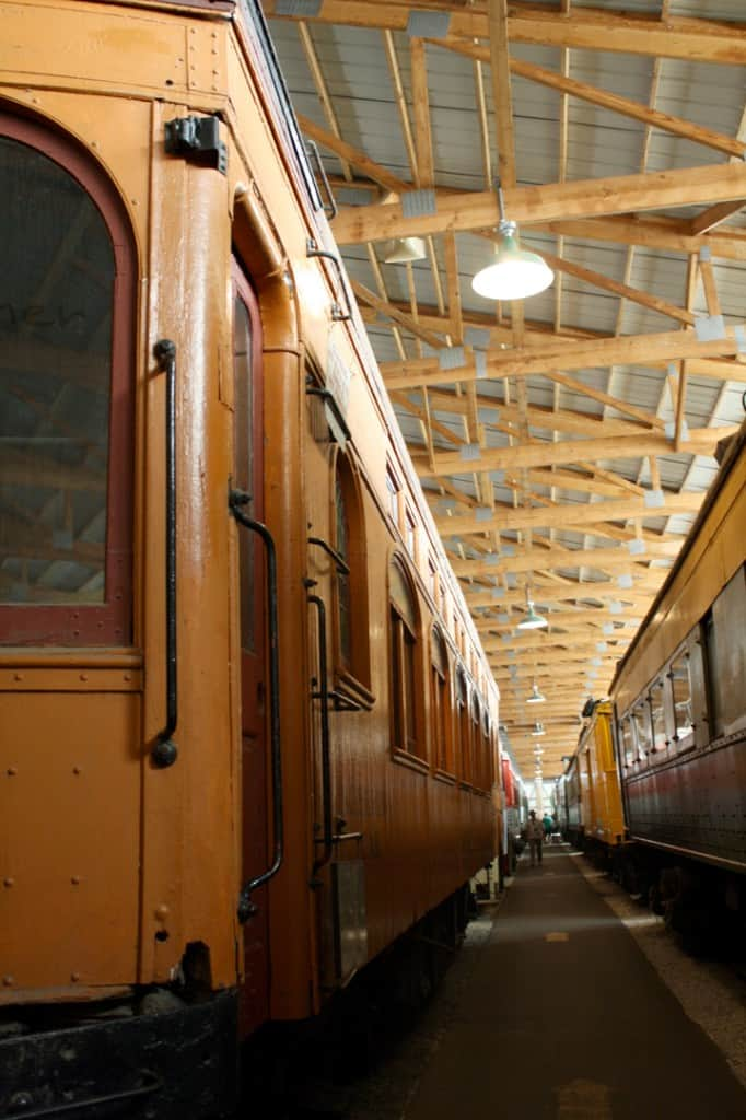 Visiting the Illinois Railway Museum on Little Red Window