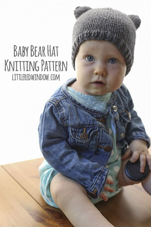Baby Bear Hat - a knitting pattern by Little Red Window
