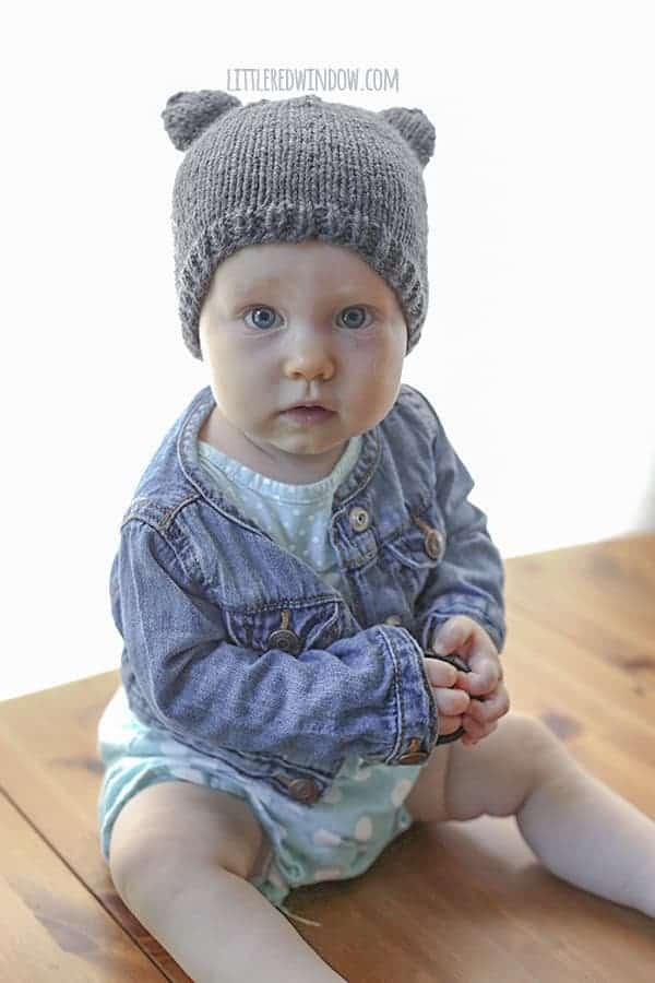 Baby Bear Hat Knitting Pattern