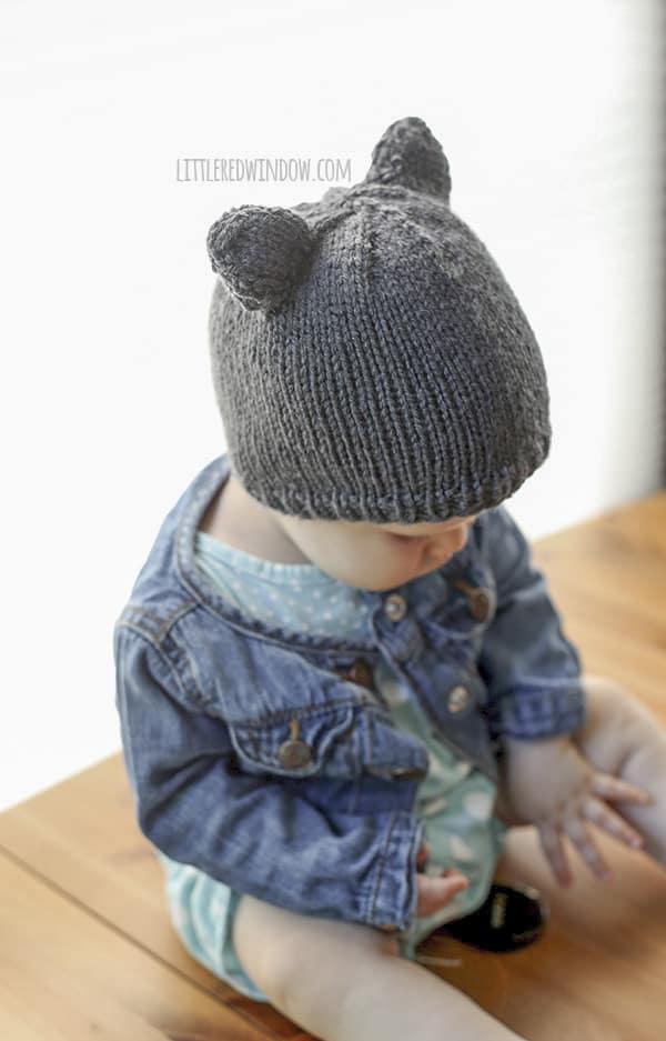 Baby Bear Hat A Knitting Pattern By Little Red Window