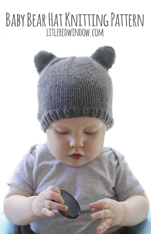 0e5f7a0d Baby Bear Hat Knitting Pattern, a cute and simple little baby hat with ears  in