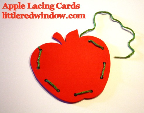 Apple Lacing Cards by Little Red Window