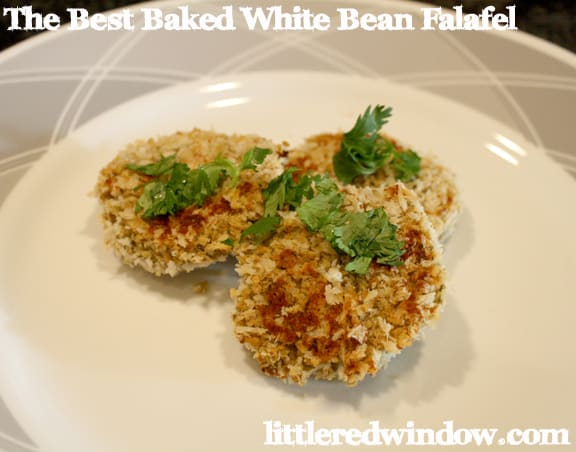 The Best Baked White Bean Falafel on Little Red Window