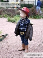 Little Boy wearing Cowboy Costume