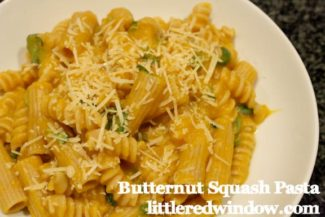 Butternut Squash Pasta with Fresh Basil