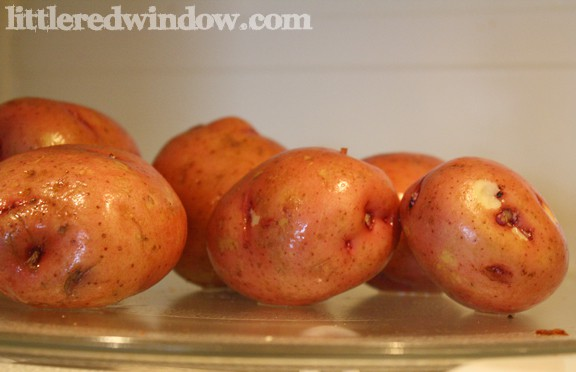 red potatoes on Little Red Window