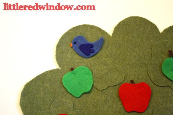Bluebird on Apple Tree Felt Board by Little Red Window