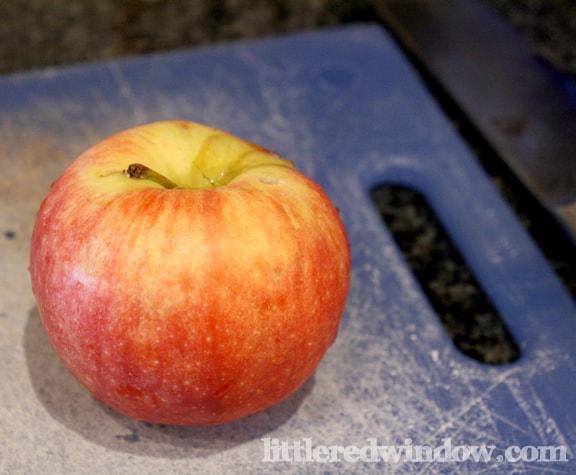 Apples on Little Red Window
