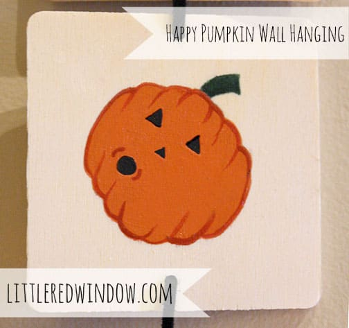 Happy Pumpkin Halloween Wall Hanging