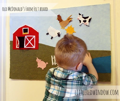 Old McDonald's Farm Felt Board by Little Red Window