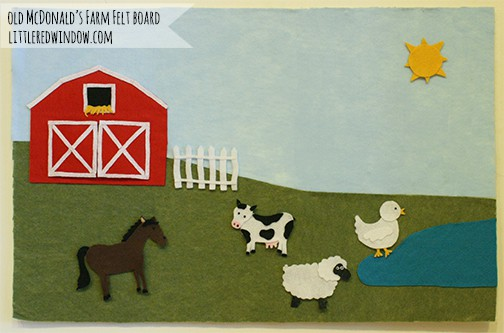 Old McDonald's Farm Felt Board with farm animals