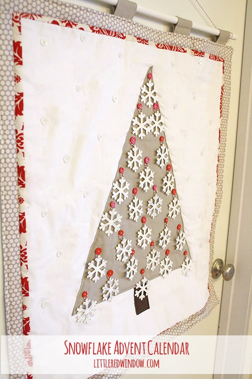 creative diy advent calendars - snowflake christmas tree advent - LittleRedWindow.com