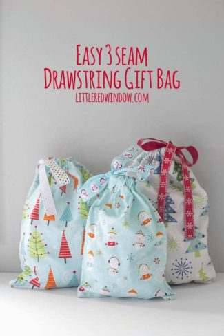 Easy 3 Seam Drawstring Gift Bag