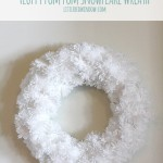 Fluffy Snowflake Pom Pom Wreath