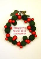 small yarn ball wreath