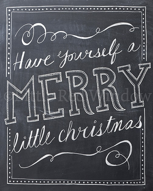 Have Yourself a Merry Little Christmas printable from LittleRedWindow on Etsy