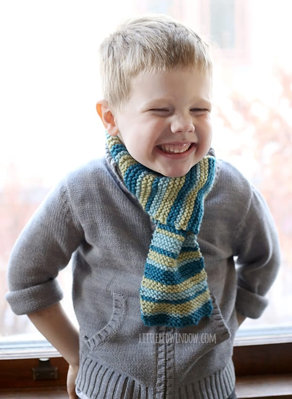 Kids Loop Scarf Knitting Pattern Little Red Window