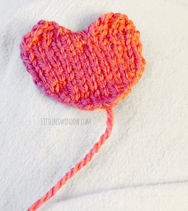Valentine Heart Hat Knitting Pattern | littleredwindow.com