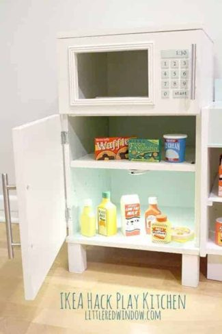 Ikea Hack Play Kitchen – Fridge and Microwave
