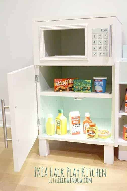 Ikea Hack Play Kitchen - Fridge and Microwave