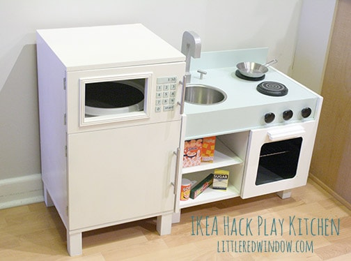 Cute ikea kitchen and microwave/fridge final photo