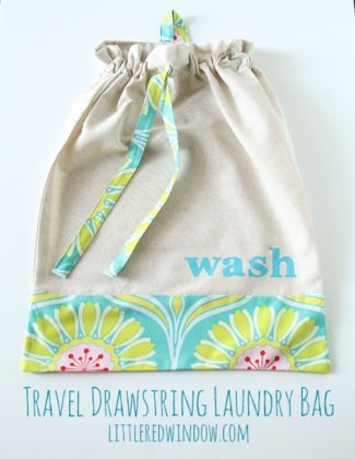 DIY Drawstring Travel Laundry Bag