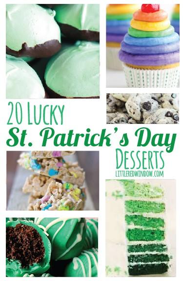 20 Lucky St. Patrick's Day Desserts | littleredwindow.com